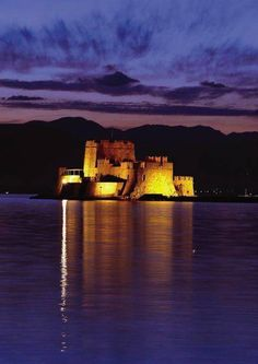 The castle of Bourtzi is located in the middle of the harbour of Nafplio Places To Travel, Places To Go, Italy Street, Adventure Is Out There, Greece Travel, Dream Vacations, Athens, Fortification, Beautiful Places