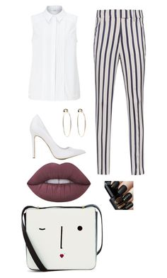 """Date with money"" by projectalice5 on Polyvore featuring John Lewis, Dondup, Bebe, Lime Crime and Lulu Guinness"