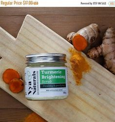 ON SALE Vya Naturals Turmeric Face Scrub  Natural Exfoliating #FaceScrubsExfoliating #LemonBodyScrub