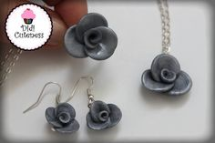 Parure roses #Fimo #Creation #PatePolymere #Bijoux #DidiCuteness