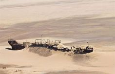 The Eduard Bohlen, a German cargo ship that ran aground while en route to Table Bay in Sout. Namibia, Namib Desert, Ghost Ship, Oceans Of The World, Europe Photos, Shipwreck, Abandoned Places, Sailing, Coast