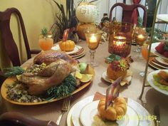 2011 Thanksgiving dinner at home