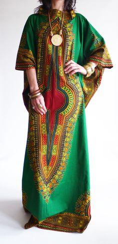 Vintage 1970s Dashiki hippie kaftan @ www.secondhandnew.nl
