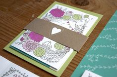 Annette + Florian's Illustrated Floral Wedding Invitations