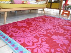 1000 Images About Upcycling Tapis Tiss Plastique On Pinterest Plastic Outdoor Rugs And