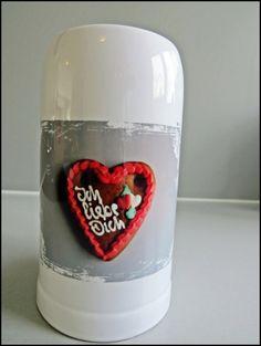 """Bierkrug """"Ich liebe dich"""" Lebkuchenherz von Art-MG auf DaWanda.com"""