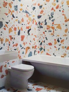 Bathroom tiling by Max Lamb