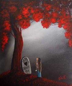 Shawna Erback Miss you sweetheart of mine Sad Art, Creepy Art, Angel Art, Fairy Art, Heart Art, Whimsical Art, Cute Art, Painting & Drawing, Art Paintings