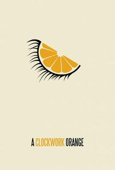 Cartel minimal de la película La naranja mecánica