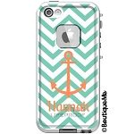 Monogrammed LifeProof® frē iPhone 5 Case - Chevron Anchor