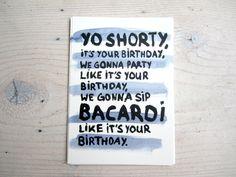 """Geburtstagskarte """"Yo Shorty"""" // birthday card by Petersen via DaWanda.com"""