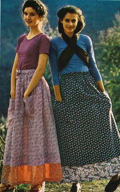 1970's prairie skirts