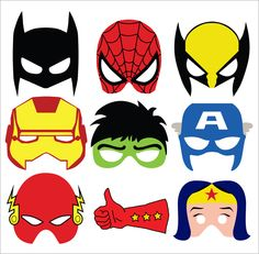 spiderman mask template Last-Minute Halloween Quickie: Free Printable Masks . Avenger Party, Avengers Birthday, Superhero Birthday Party, Superhero Party Bags, Superhero Canvas, Superman Birthday, Birthday Diy, Birthday Cards, Birthday Parties