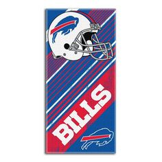 Buffalo Bills NFL Fiber Reactive Beach Towel (Diagonal Series) (28in x 58in)