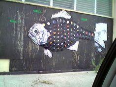Vinyl Fish. Public Art