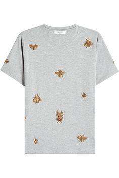 VALENTINO Embellished Cotton T-Shirt. #valentino #cloth #