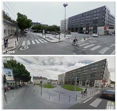 SHARED STREETS - Streets where pedestrians and cars share the same space | Bordeux, France