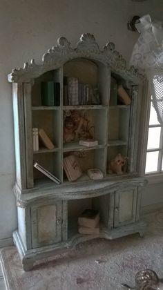 Miniatures dollhouse BOOKCASE with by LecreazionidiNadia on Etsy
