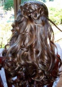 hair half up do
