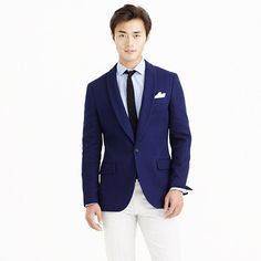 J.Crew - Ludlow shawl-collar dinner jacket in fiore cotton...so dapper in french blue; wish they made it in Crosby fit.