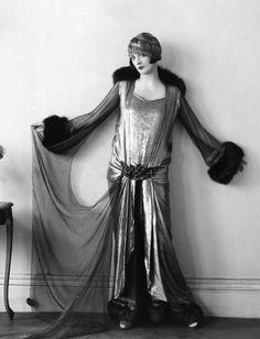 Elsie Randolph wears a Norman Hartnell dress in 1924