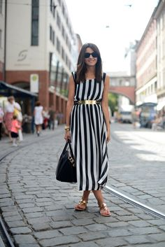 Sundress with metallic accents
