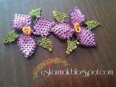 İğne Oyası Küpe Çiçeği Örnekleri (21) - Canım Anne