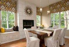 Cozy Casual Dining Room - Contemporary - Dining room - Images by Masterpiece Interiors, Inc. Dining Room Images, Dining Room Design, Dining Area, Interior Design Gallery, Interior Design Inspiration, Design Ideas, Design Projects, Casual Dining Rooms, Slipper Chairs