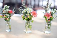Small flowers for centrepieces