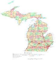Printable Interactive US State Coloring Pages Michigan Coloring - Interactive us map for kids