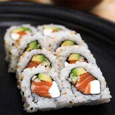 Philadelphia Roll •  Salmon, avocado, asparagus, and cream cheese.