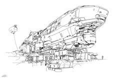 ArtStation - Halo 5 - Meridian spaceship , sparth .