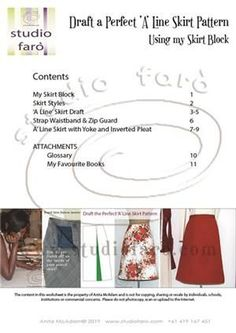22 fabulous pages of content including sketches, diagrams, photos and garment making instructions to help you have the most fun making your pattern. Corset Sewing Pattern, Pdf Sewing Patterns, Vintage Patterns, Clothing Patterns, Drape Skirt Pattern, Skirt Patterns, Fashion Templates, Make Your Own Clothes, Pattern Blocks
