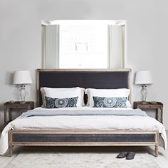 Boston super king size grey velvet bed