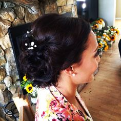 Special occasion Bridal updo done by Me | classy updo for a flagstaff wedding| bride .. Hair by Michelle M.