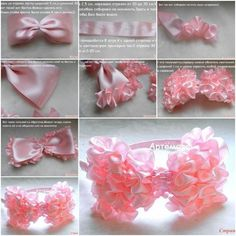 You may love this way to decorate plain hairband with ribbons. It's so simple by thread and glue, and the result is so sweet for girls. You can use it for many more such as bedding, cushions etc. Materials: Ribbons Needle and thread Glue Scissors
