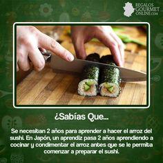 ¿#SabíasQue Se necesitan 2 años para aprender a hacer el arroz del sushi?#Curiosidades#Gastronomía