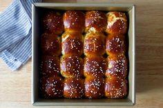 pretzel parker house rolls**