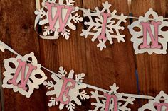 Winter Onederland Snowflake Banner for by PaperPartyParade on Etsy