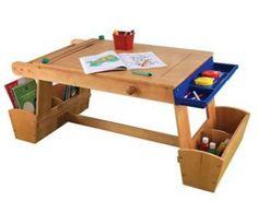 KidKraft Art Table with Drying Rack & Storage