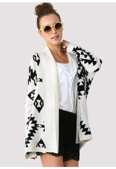 Aztec Open Knit Cardigan- I need this! #ALDOpinthetrends