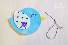 How to Make spring bird magnets out of felt. Tutorial