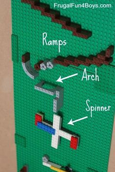 """How to make a LEGO Marble Run - Mrs. J in the Library's note: A more advanced design for students who want to """"level up"""" the LEGO learning."""