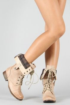 Jetta-25 Lace Up Military Mid Calf Boot | Urbanog