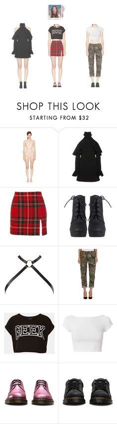 """Minah _ KBS gayo festival w/ MOONWAKE"" by doll-anons ❤ liked on Polyvore featuring STELLA McCARTNEY, Elie Saab, Opening Ceremony, Bijoux Indiscrets, RE/DONE, Topshop, Helmut Lang and Dr. Martens"