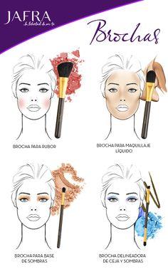 #JAFRA #Belleza #Brochas #Tips #Sombras #Blush #Delineador #Maquillaje #Polvo #Rubor