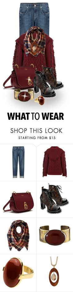 """""""Comfortable With Style"""" by shamrockclover ❤ liked on Polyvore featuring 7 For All Mankind, Alanui, Mulberry, Collection XIIX, Orduna Design, Dyrberg/Kern and Spring Street"""