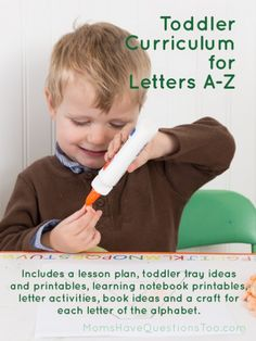 Toddler Curriculum for all 26 Letters of the Alphabet by Moms Have Questions Too