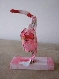 Flamingo papiermache (6 jaar) Flamingo, Mini, Flamingo Bird, Flamingos