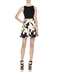Alice + Olivia Kourtney Printed Dress | Bloomingdale's